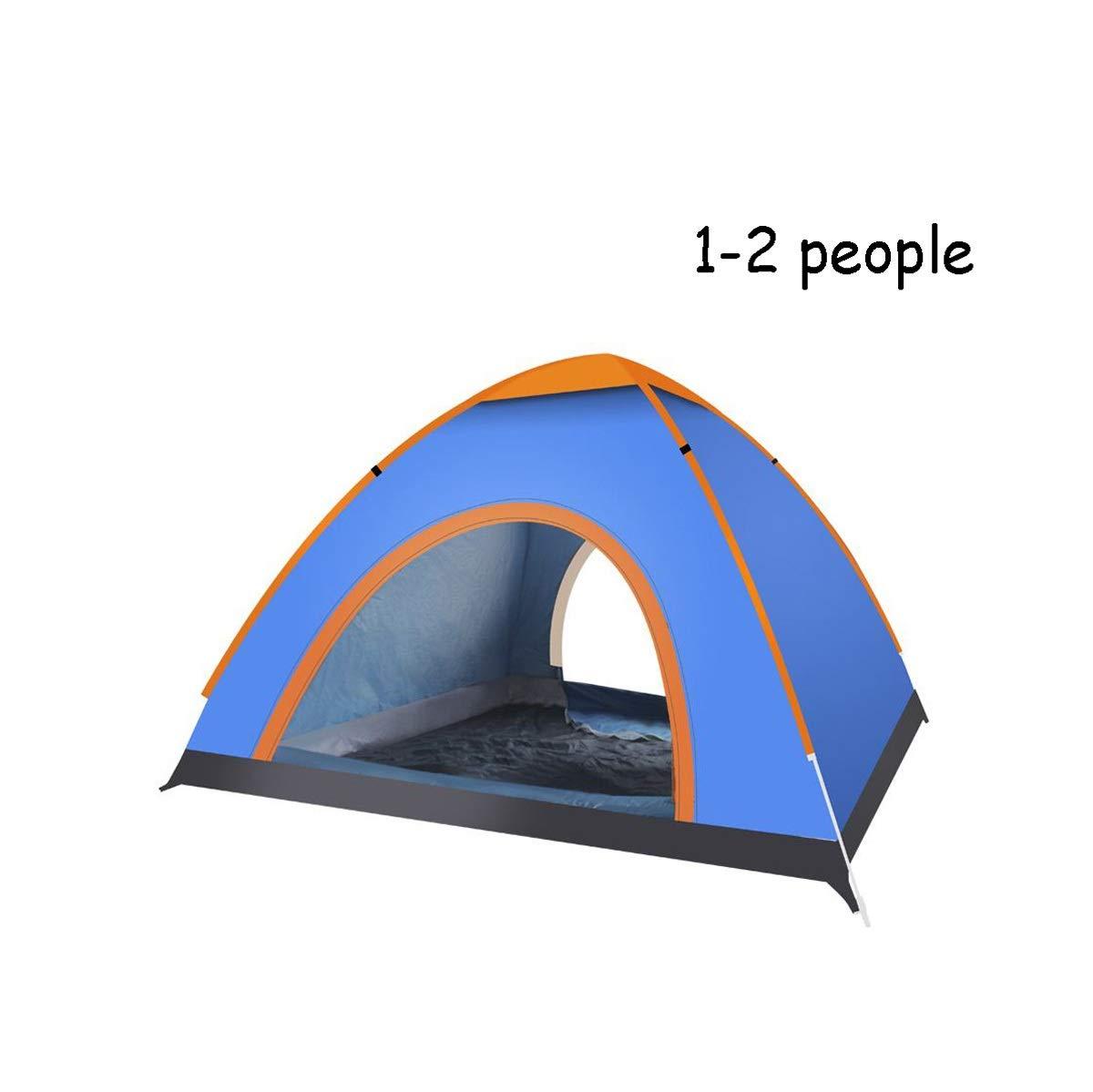 alta calidad Small Tienda de campaña emergente emergente emergente para 3-4 personas en el exterior Tienda de camping en el festival Projoección UV resistente al agua Configuración de instalación rápida Compacto liviano ( Talla   Small )  forma única