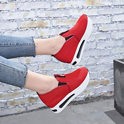 Elegant Slipper LHWY Atmungsaktiv Mesh Freizeitschuhe Heels Thick Platform Outdoor Frauen High Damen Sneaker Party Winter Red Sandalen Schuhe 5wzIv0