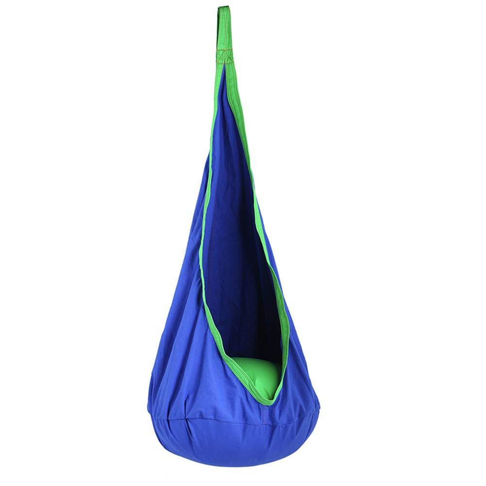 LHLCG Kinderschaukel Klapphängematte Sitz drinnen oder draußen,FarbeC