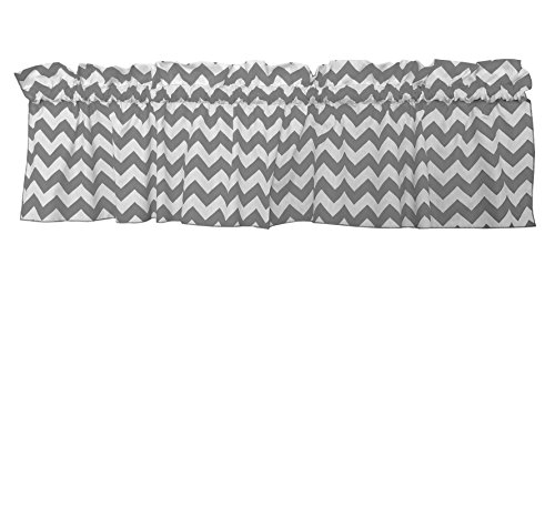 Zen Creative Designs Premium Cotton Chevron Curtain Valance / Home Decor / Window Treatment / Kitchen / Baby Nursery / Chevron / Zig-zag (24 Inch x 58 Inch, Charcoal) by Zen Creative Designs