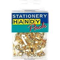 Paper fasteners brass x 40