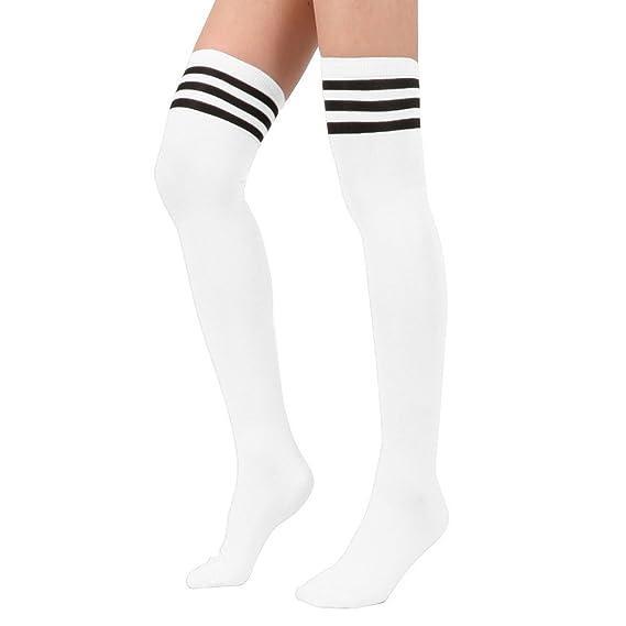 Vococal-Calcetines hasta la Rodilla de Tubo Largo de Fútbol Béisbol Deporte para Mujer(