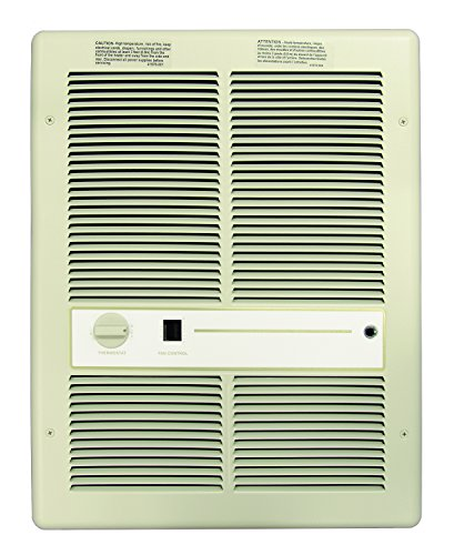 277v Fan Forced Wall - TPI G3315RPW 3310 Series Fan Forced Wall Heater without Summer Fan Switch, Single Phase, 3000W, 277V 1PH 10.8A, White