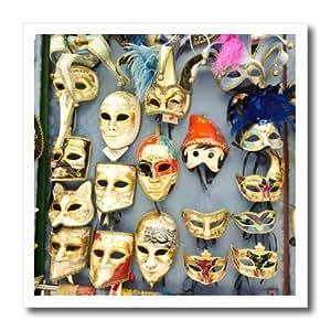 ht_82171_1 Danita Delimont - Venice - Italy, Venice, Burano, Venetian carnival masks - EU16 RDU0163 - Richard Duval - Iron on Heat Transfers - 8x8 Iron on Heat Transfer for White Material