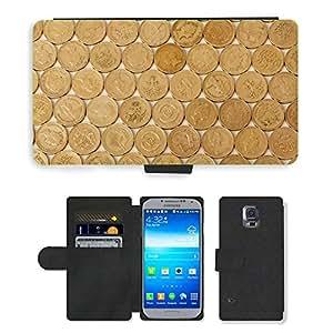 PU LEATHER case coque housse smartphone Flip bag Cover protection // M00151401 Negocios Efectivo Moneda Concepto de // Samsung Galaxy S5 S V SV i9600 (Not Fits S5 ACTIVE)
