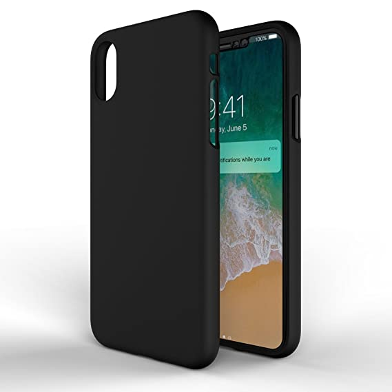new style 60326 023c5 MTT Back Cover for Apple iPhone X (Black)