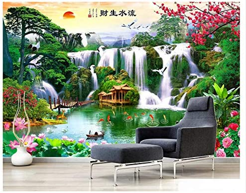 3D壁画壁紙風景ソファ寝室の装飾絵画寝室のリビングルームの壁の装飾-200x140cm