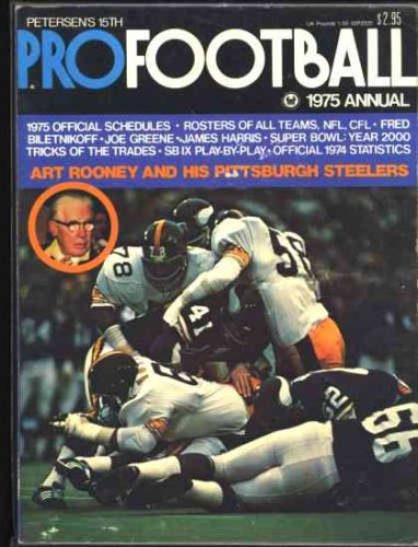 Petersen's Pro Football Annual (15th Year) 1975 NFL (Pittsburgh Steelers Cover)