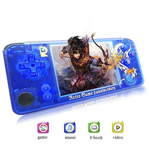 RICH-Po 2019 Latest Multifunction 26 Languages Handheld Game Console for Kids Portable Retro Video Game Player Built-in 3000 Classic Games [3