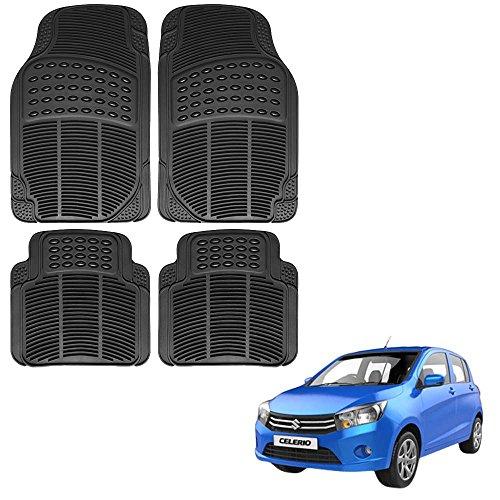 Vheelocityin Maruti Suzuki Celerio Car Mat Black / Black rubber Foot Mat For Maruti Suzuki Celerio…