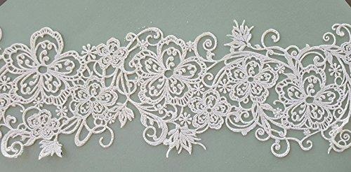 2 White Vanilla Edible Lace - Embroidery Stitch Filigree Scroll Swirl Border for All Occasion