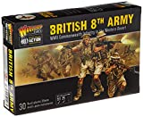Bolt Action 8th Army Infantry Commonwealth Infantry Western Desert 1:56 WWII Military Wargaming Plastic Model Kit