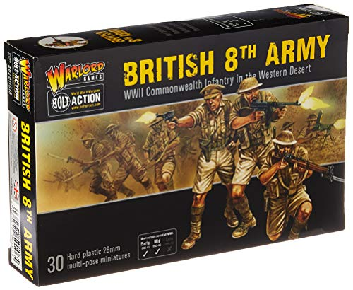 Bolt Action 8th Army Infantry Commonwealth Infantry Western Desert 1:56 WWII Military Wargaming Plastic Model Kit ()