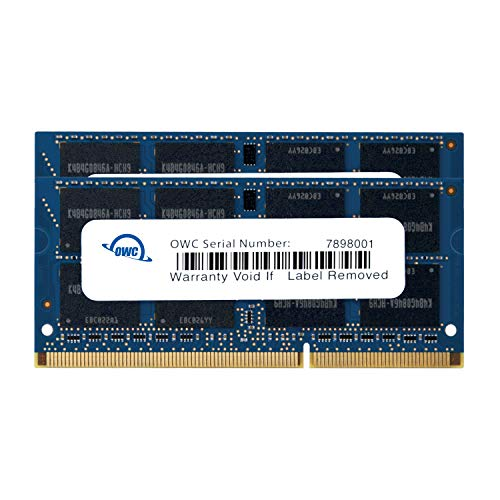 12800 DDR3L 1600MHz SO-DIMM 204 Pin CL11 Memory Upgrade Kit for iMac, Mac Mini, and MacBook Pro, (OWC1600DDR3S16P) ()