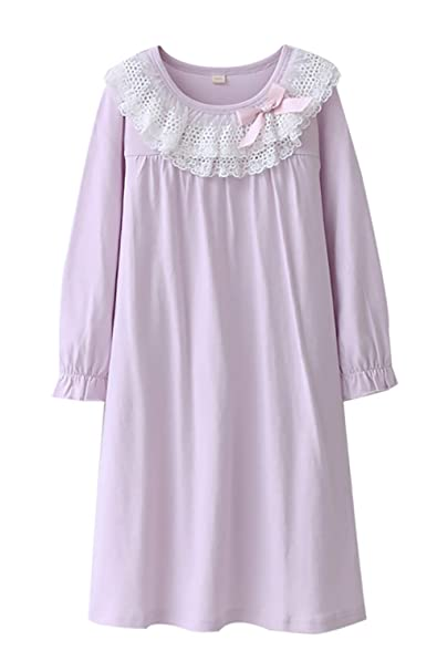 daade48663 Zegoo Cotton Long Sleeve Nightgown cat Dress for Girls  Amazon.ca ...