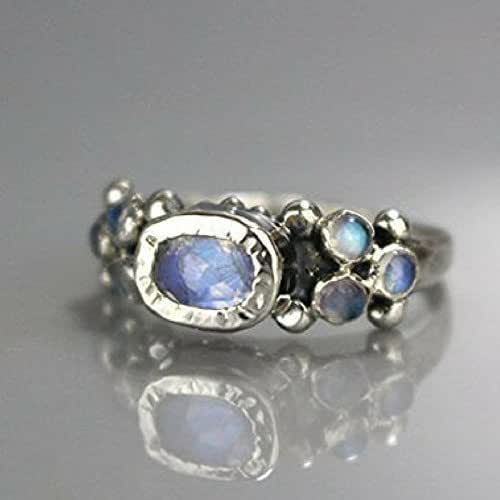 Amazon.com: Handmade Artisan Rainbow Moonstone Sterling