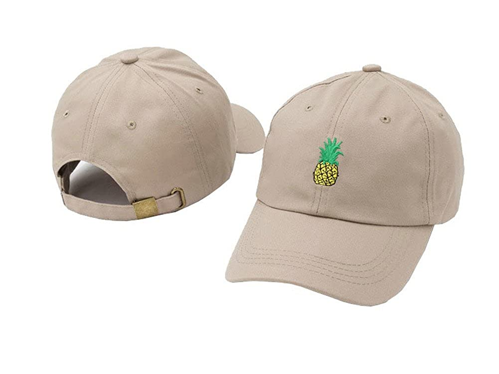 69ad49287c5 Wendy Wu Pineapple Hat Baseball Cap Polo Style Unconstructed Hats (Beige)   Amazon.ca  Clothing   Accessories