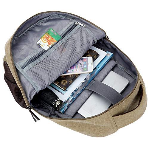 High Canvas Student Dhfud Backpack Green capacity Fashion Bag Men's Travel fBnYOqTw