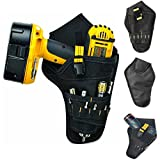 Edxtech Drill Holster Cordless Tool Holder Heavy Duty Tool Belt Pouch Bag Pocket Loops