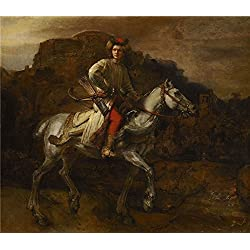 The High Quality Polyster Canvas Of Oil Painting 'Rembrandt Harmensz. Van Rijn - The Polish Rider, C. 1655' ,size: 20x23 Inch / 51x59 Cm ,this Vivid Art Decorative Prints On Canvas Is Fit For Home Theater Gallery Art And Home Decoration And Gifts