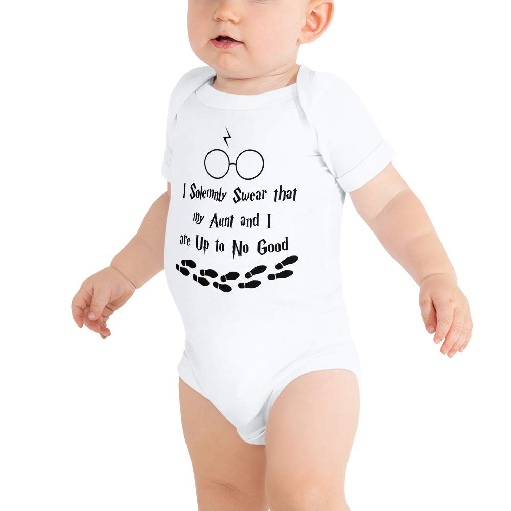 319fc27c4 Amazon.com: I Solemnly Swear That My Aunt and I are Up to No Good Baby  Bodysuit Baby Onesies: payatek: Clothing