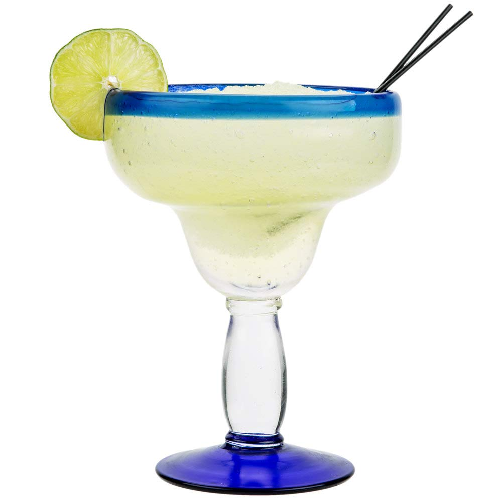 Case of 12 Aruba Blue Rim Margarita Glass 16 oz (Libbey 92315), Dishwasher Safe by aruba (Image #1)