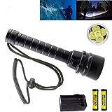 BESTSUN Brightest Diving Flashlight, 5X CREE XM-L2