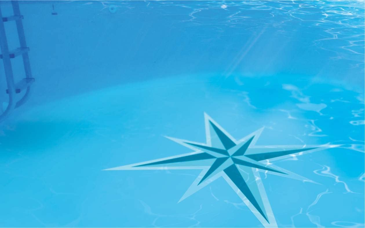 Sticker Swimmingpool B69 Poolaufkleber 120 x 220 cm Poolboden Hai Aufkleber Pool
