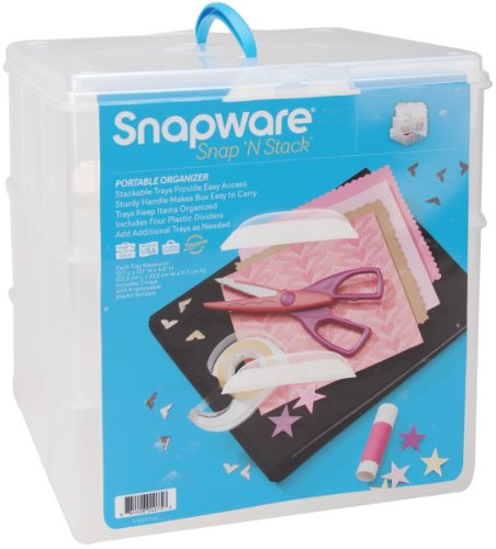 Snapware Snap 'N Stack Large Sq 3 Layer 4 (Snapware Craft Organizer)