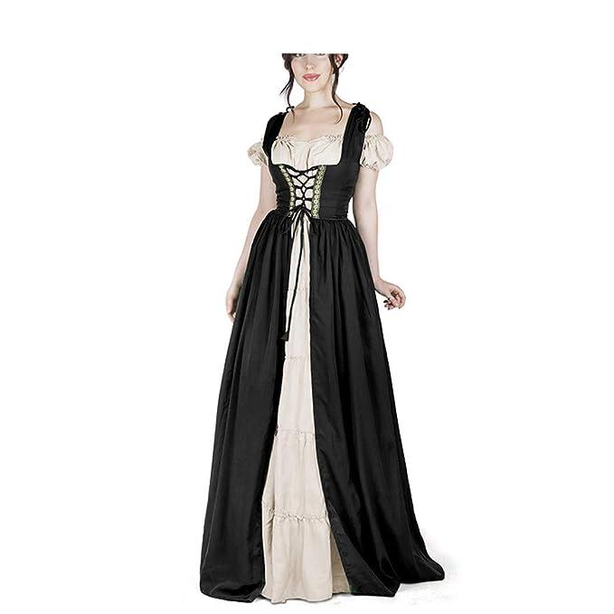 Amazon.com: LY-VV Vestido medieval para mujer, vestido ...
