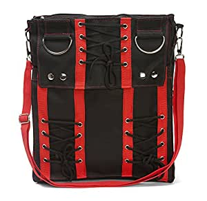 Red Corset Sling Bag Purse Goth Vamp Rockabilly Punk Deathrock Anime Cosplay