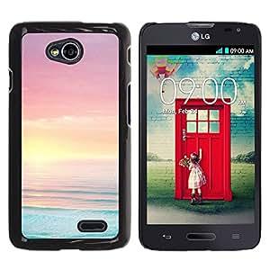 LECELL--Funda protectora / Cubierta / Piel For LG Optimus L70 / LS620 / D325 / MS323 -- Blue Pink Orange Vibrant Ocean Sea --