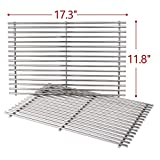 SHINESTAR 7639 Stainless Steel Grill Grates (17.3 x 11.8) for Weber Spirit 300 Series, Genesis Silver B&C, Genesis Gold B&C, Genesis 1000-3500, Cooking Grids Parts Replace Weber 7639