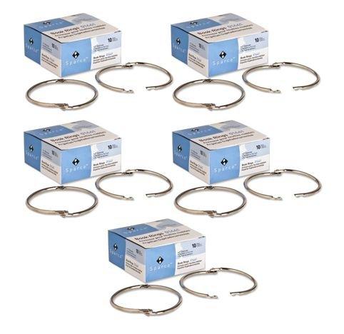 Book Ring - Sparco - 3-Inch Diameter, 10 per Box, Silver (SPR01441) (5 Boxes)
