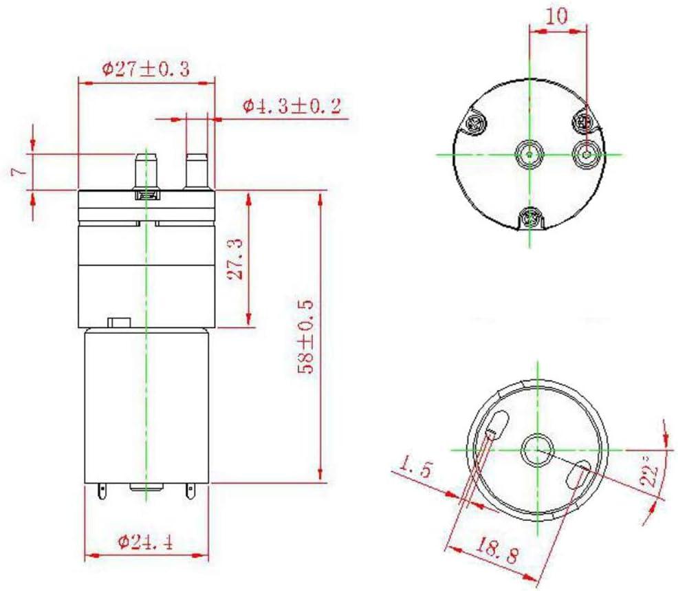 siwetg DC 3 V Micro 370B Bomba de Aire eléctrica de vacío Mini Pump Booster para medicinales: Amazon.es: Hogar