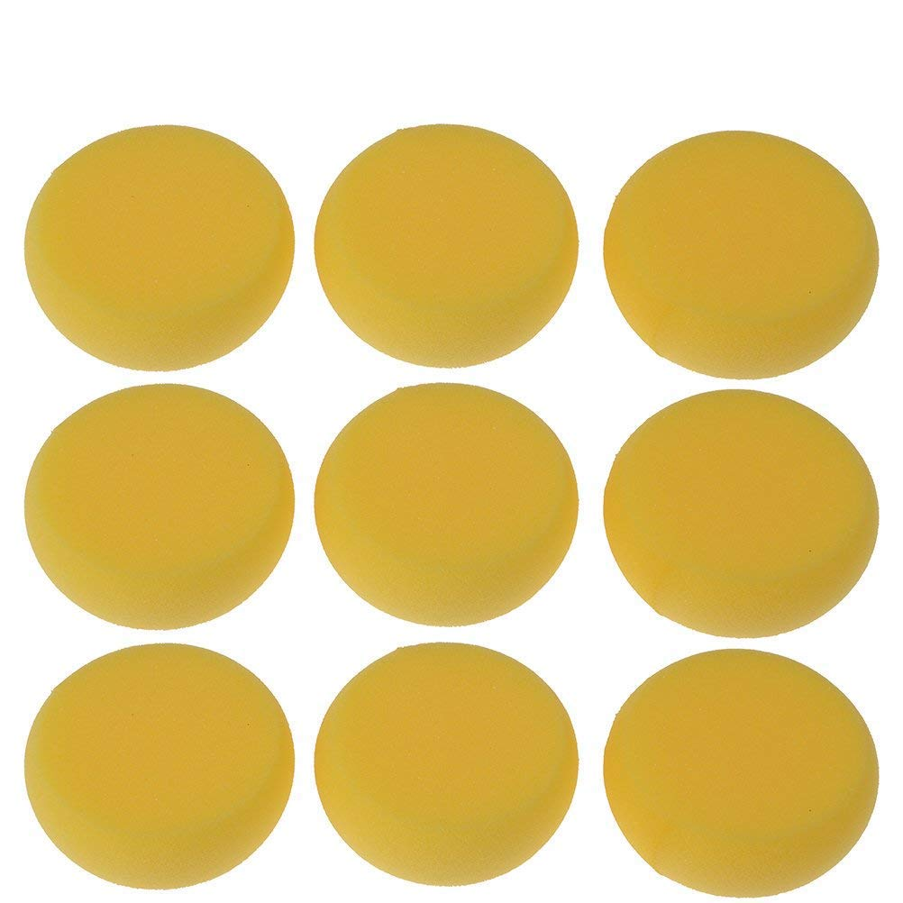 Buytra 25 Pack Synthetic Artist Paint Sponges Round Watercolor Sponges for Painting, Craft, Ceramics, Pottery, Wall, Yellow by Buytra