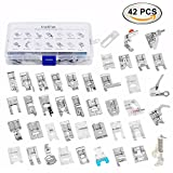 zipper foot singer simple - Sewing Machine Presser Feet Kit Set 42 pcs for Brother, Babylock, Singer, Janome, Elna, Toyota, New Home, Simplicity, Necchi, Kenmore, and White Low Shank Sewing Machines
