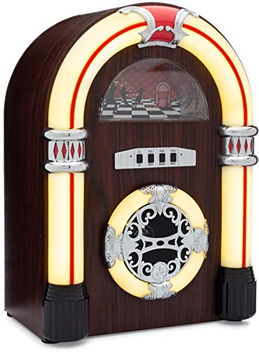 ClearClick Jukebox Bluetooth Speaker with Lights and Aux-in