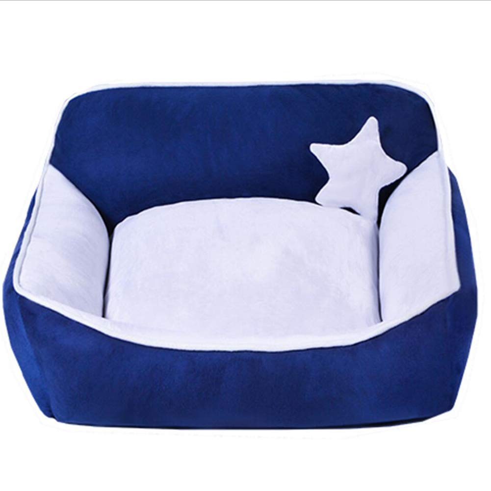 bluee Large bluee Large Pet Nest Pet Sofa Pet Bed Cat Nest Kennel Dog Nest Cat Kennel Indoor Removable and Washable Four Seasons Universal Haiming (color   bluee, Size   L)