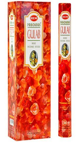 Precious Gulab 16 Inches Tall - 60 Jumbo Sticks Box - HEM (Gulab Incense)