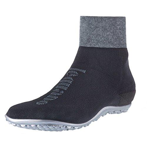 leguano Primera Schwarz | Barfußschuhe | Die Barfuß-Socken für Kinder, Damen und Herren Schwarz