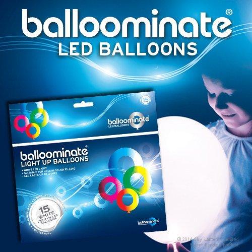 61 opinioni per 15x Palloncini Luminosi Balloominate White- LED Luce Bianchi Fissa Party Pack