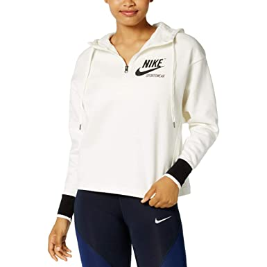 f48aa2af3b5a Nike Sportswear Archive Half-Zip Hoodie Women s at Amazon Women s Clothing  store