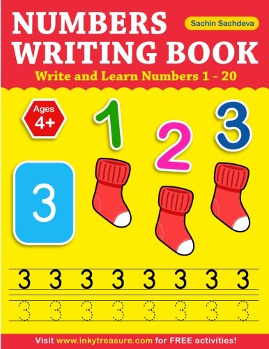 Numbers Writing Book: Write and Learn Numbers 1 - 20