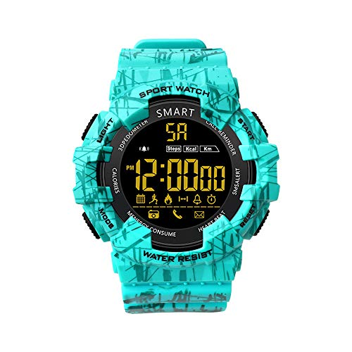 Lywey EX16C Smart Watch Step Activity Tracker IP68 Waterproof Watch Standby 365 Days (Mint Green)
