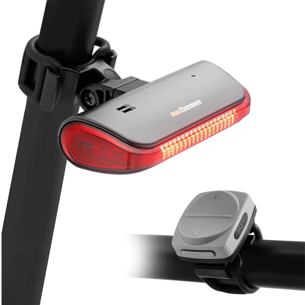 NUBEAM NB-600 USB Rechargeable Bicycle Tail Light - Wireless Anti-Theft Alarm, Directional Turn Signal Light, Electronic Bell - Wireless Operation and Water Resistant