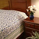 Moonlit Taj ~ Exotic Turquoise India Floral Queen Duvet Cover 90x90