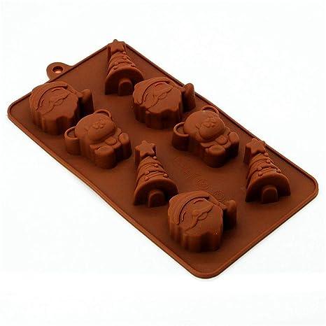 MKNzone 1 moldes de silicona DIY , tartas, chocolate - Tema de Navidad(7.9