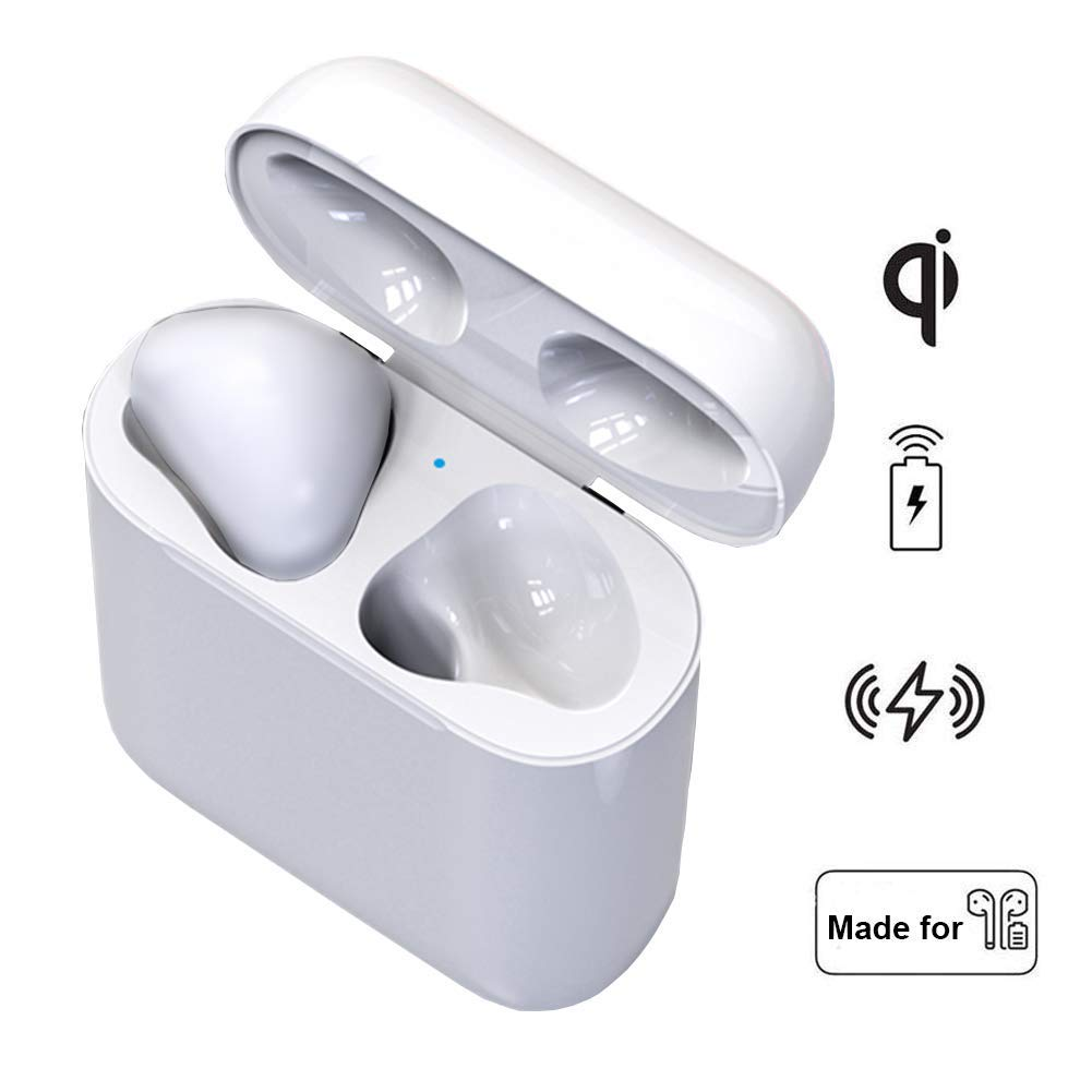 Charging Case Replacement, HOCOMO Wireless Airpods Charging Case with 450mAh Battery for 5 Times Full Charge, Original Size Charger Box Compatible with Airpod (Only Power Charging,No Pairing Button)