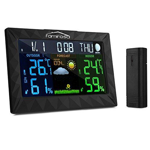 Famirosa Wireless Weather Station,Indoor Outdoor Digital